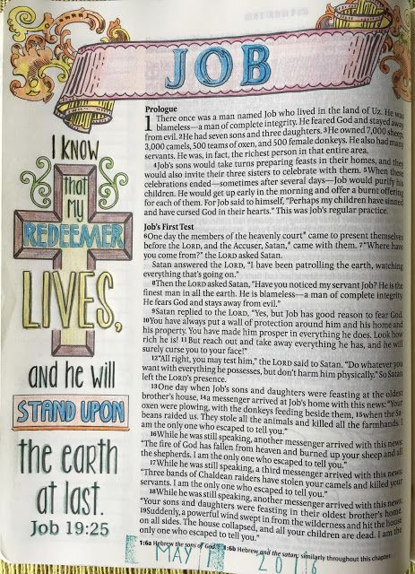 Vintage Grace: Bible Marginalia- My Redeemer Lives