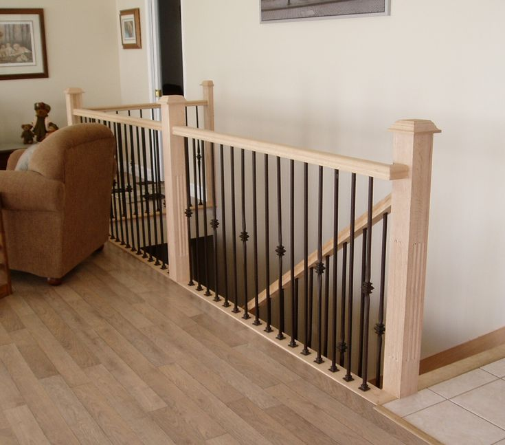 1000 Images About Home Foursquare Living On Pinterest: 1000+ Images About Stair Rail From Main To Lower Level On