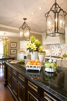 french country kitchen lighting