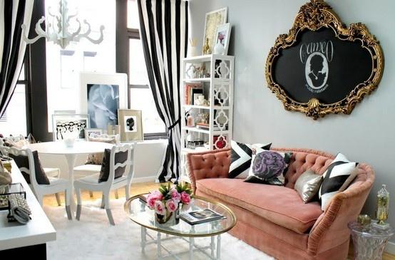 VINTAGE & CHIC: decoración vintage para tu casa [] vintage home decor: Sofás en rosa [] Pink sofas @ Home Interior Ideas