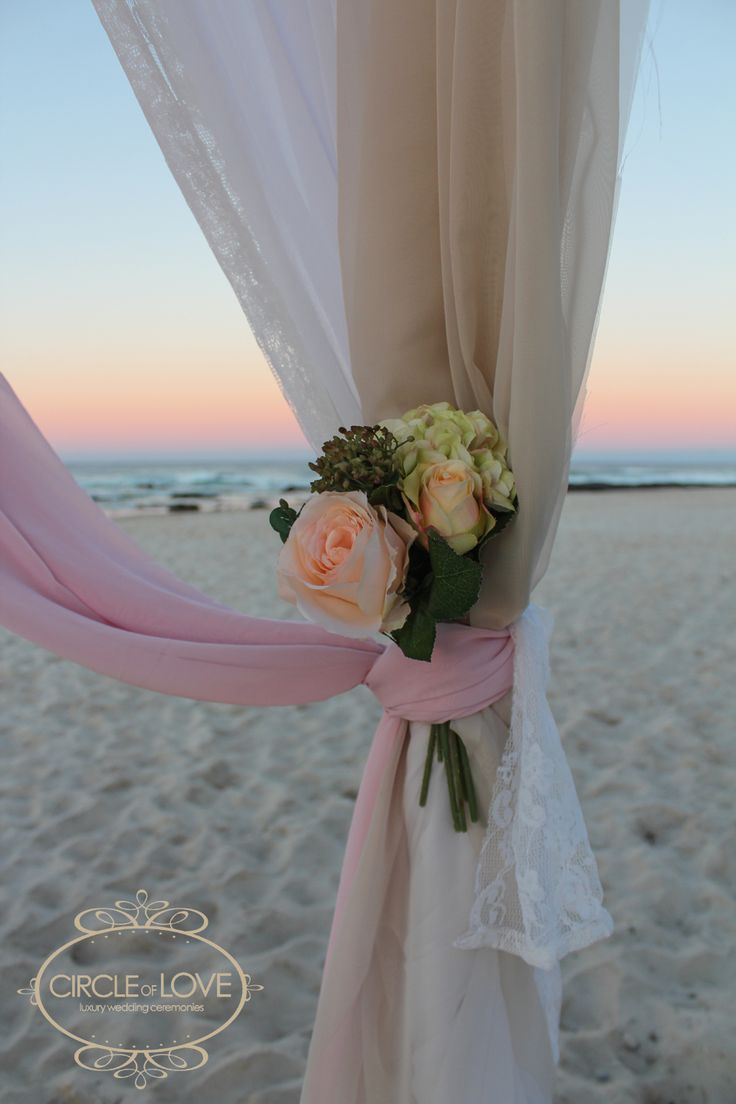 Coloured draping and lace materials http://www.circleofloveweddings.com.au/