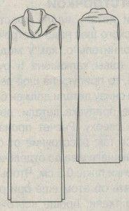 Платье труба эскиз, выкройка, инструкции