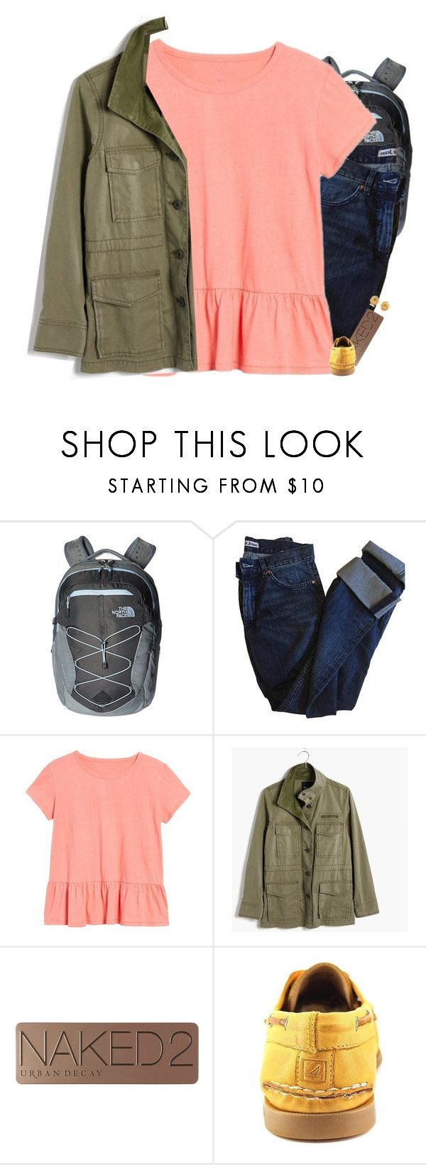 """My OOTD"" by mac-moses ❤ liked on Polyvore featuring The North Face, Acne Studios, Caslon, Madewell, Urban Decay, Sperry and Tiffany & Co."