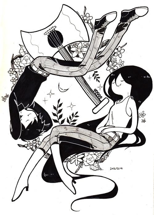Adventure Time. Marshall Lee and Marceline.