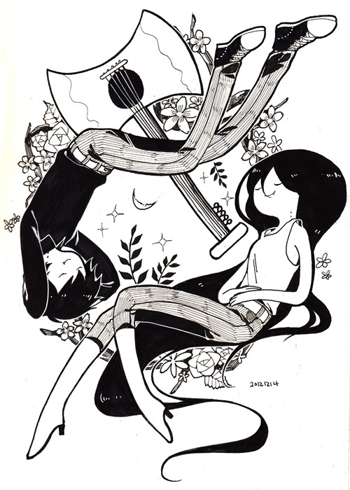 Adventure Time. Marshall Lee and Marceline.