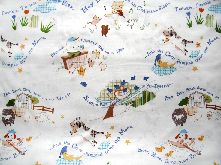 Custom listing sale nursery rhymes by suling wang for Nursery fabric sale