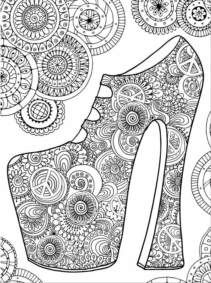 hippy high heels coloring page