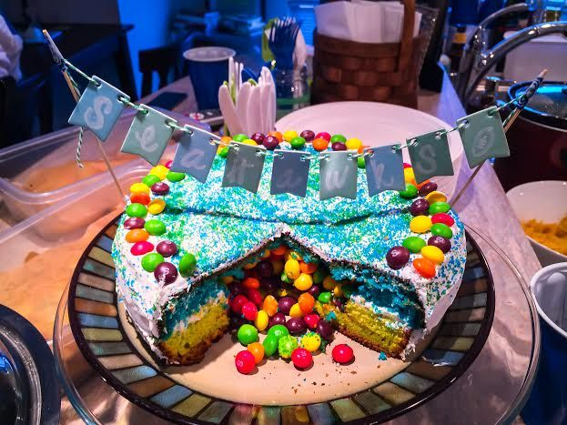 Cake With Skittles