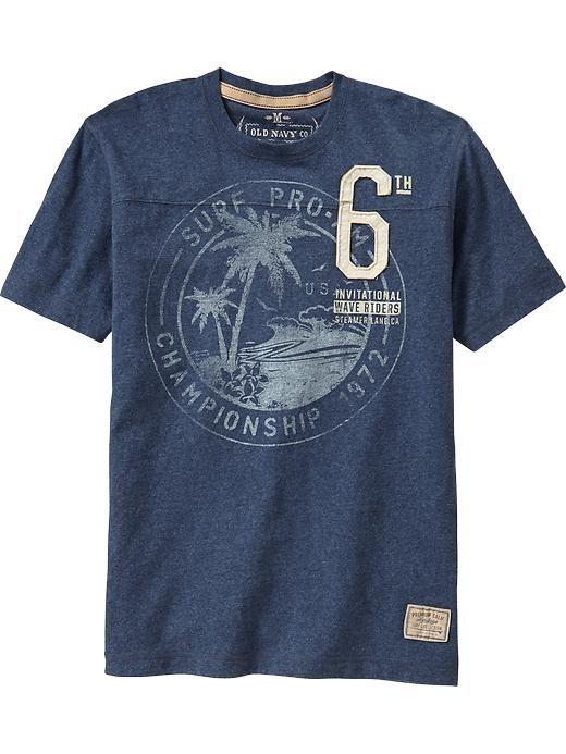 Men's Premium Surf-Graphic Tees   Old Navy
