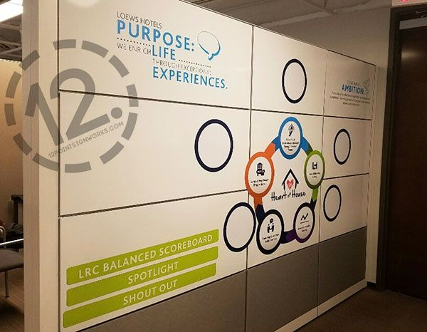 Custom magnetic decal signage for loews business services center in nashville tn 12 point