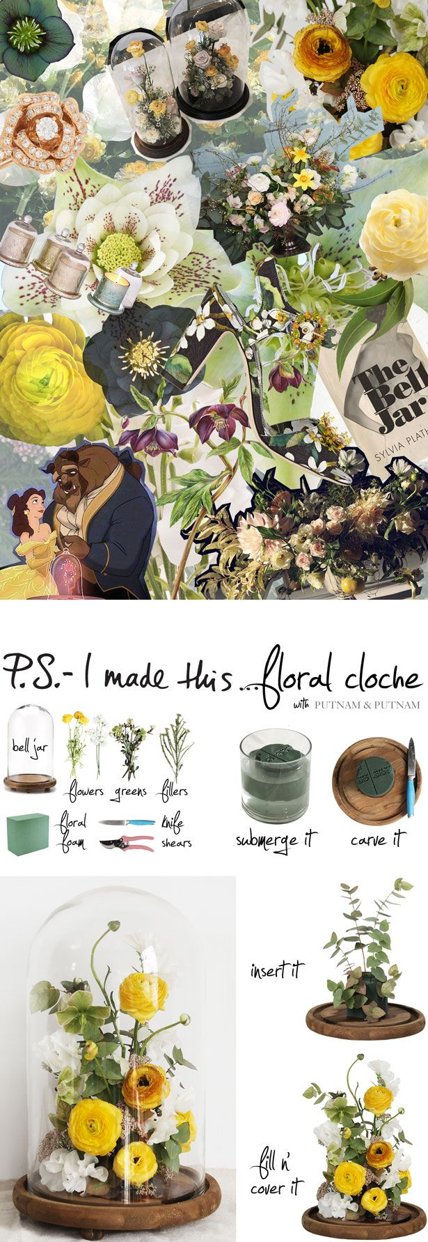 P.S.- I made this...Floral Cloche with Putnam & Putnam Floral Design #PSIMADETHIS #DIY