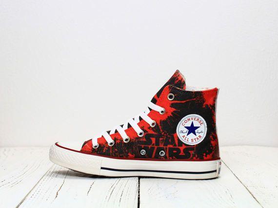 Star Wars Darth Maul personalizado pintado sith Converse