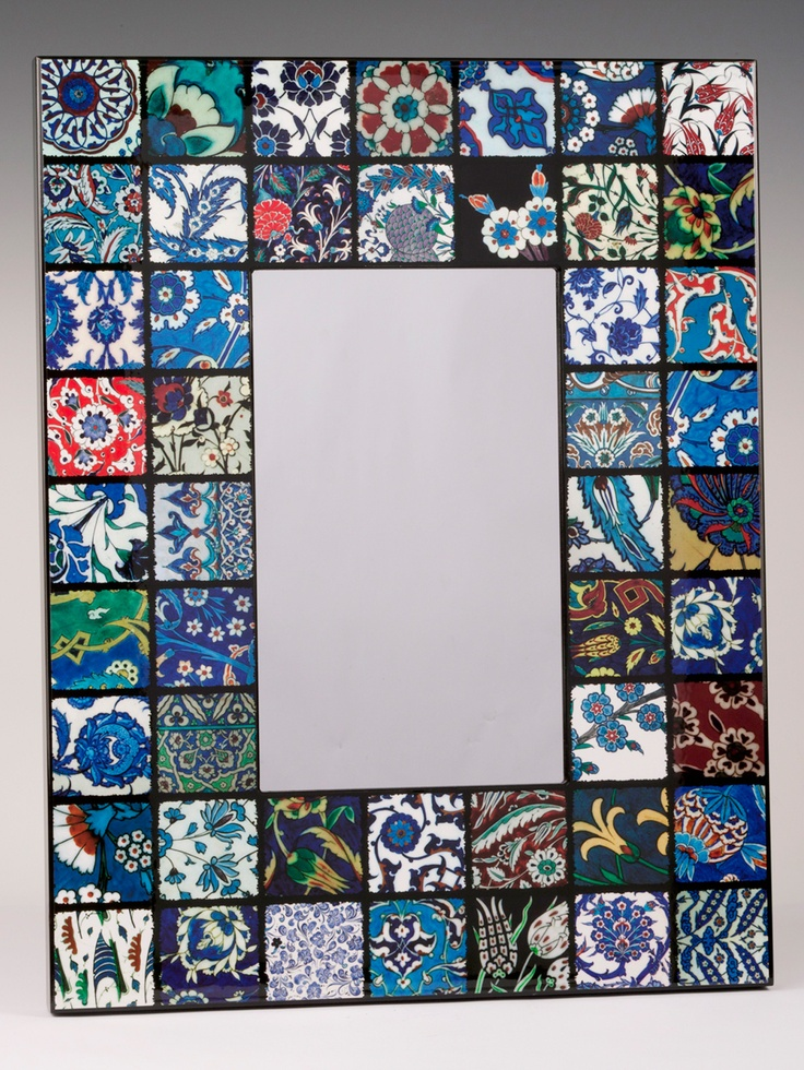 Iznik tile frame for mirror