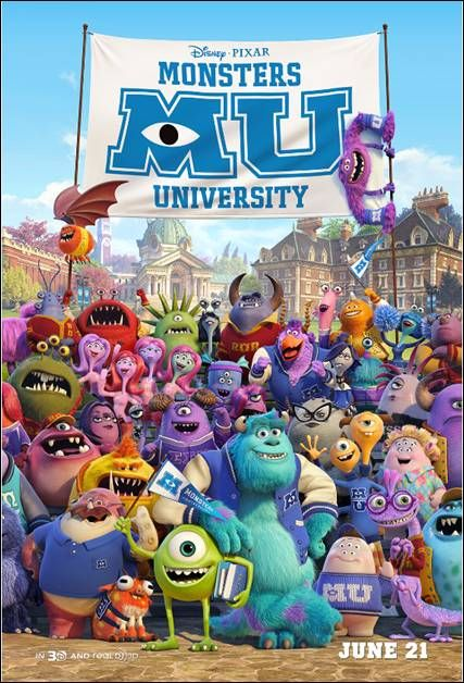 monster university | Monsters University New Poster! | A Daily Dose of Toni