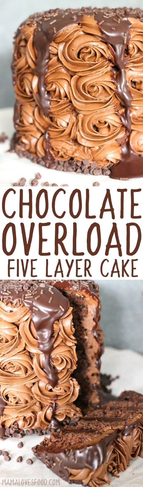 might be the best cake i ever made!!!   Easy Chocolate Overload Cake made with Box Cake Mix - How to Make an Amazing 5 Layer Rich Chocolate Cake