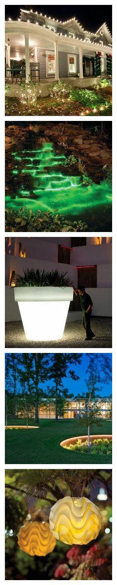 Открытое светодиодное освещение можно разделить на несколько видов - общее освещение, освещение акцентирующее внимание на отдельных предметах и ориентировочные огни.  Каждый тип имеет свои уникальные свойства освещения, а также надлежащее проектирование систем, которое необходимо учитывать, продумывая назначение каждого типа освещения для сада. #светодиоды #подсветка #освещение #уличноеосвещение #уличныесветильники #светодиодныйдекор #декоративнаяподсветка #ландшафтноеосвещение