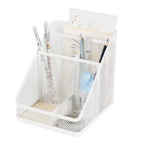 Mesh Medium Desktop Organizer White - Made By Design ...