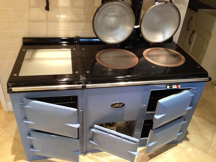 Lovely Clean Baby Blue Aga cleaned by Mansel