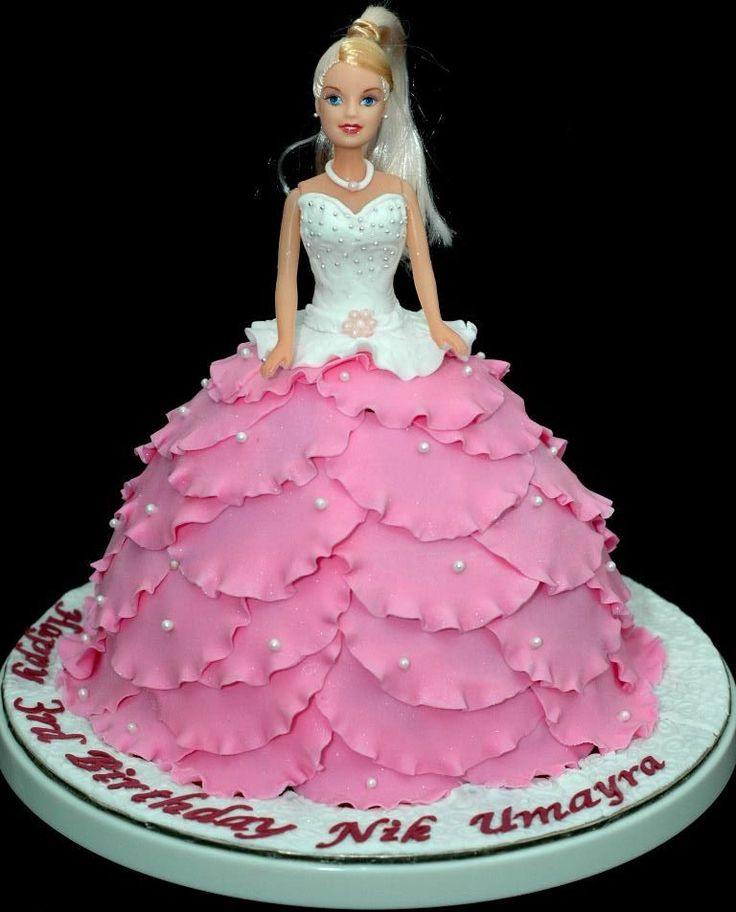 Images Of Barbie Birthday Cake : 25+ best ideas about Doll Cakes on Pinterest Barbie ...
