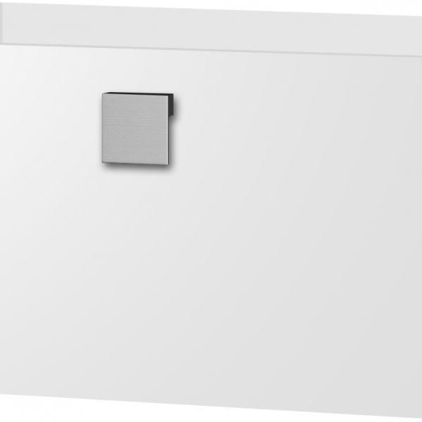 124.74€ Mueble suspendido de 605x310x450 con cajón metálico cierre suave; salvasifón; realizado en laminado de 16 mm acabado blanco semibrillo y tirador cuadrado acabado aluminio mate