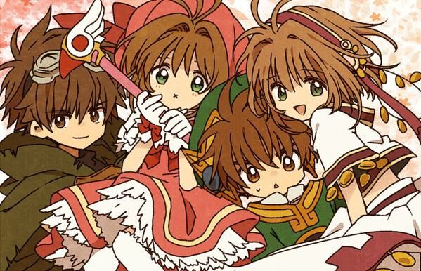 Sakura Kinomoto (木之本さくら) & Shaoran Li (李小狼) & Sakura (サクラ) & Syaoran (小狼) | Cardcaptor Sakura (カードキャプターさくら), CCS, Cardcaptors, Card Captor Sakura x Tsubasa: RESERVoir CHRoNiCLE (ツバサ -RESERVoir CHRoNiCLE-), TCR, Tsubasa | CLAMP