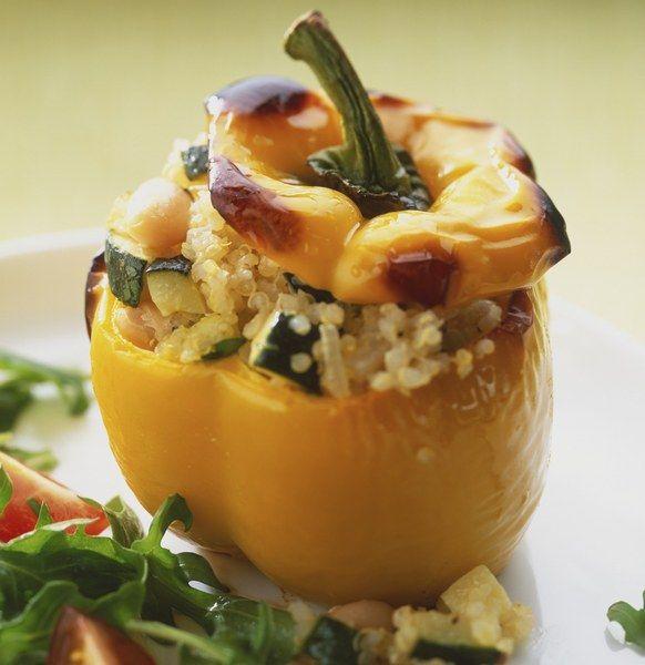 Recetas con quinoa: Pimientos rellenos de quinoa