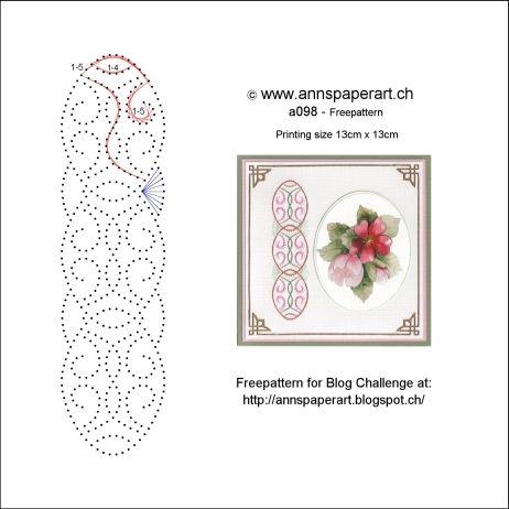 Anns Paper Art: Sttiching Challenge #2 with Freepattern