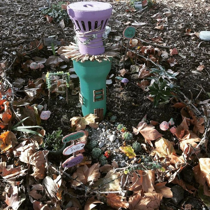 The Kensington Station Fairy Garden where the fairies trolls and dragons like to congregate