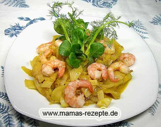 Rezept Fenchel - Garnelensalat auf Mamas Rezepte Homepage