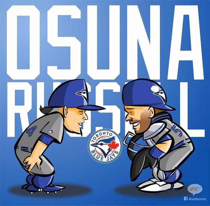 Roberto Osuna, Russell Martin #Blue Jays
