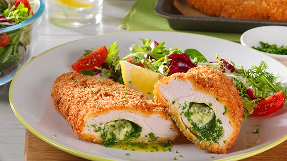 CHICKEN KIEV - Who doesn't love a perfectly cooked Chicken Kiev? The buttery filling with Knorr Chicken Stock Pot raises this classic dish to a new level. Be warned, the kids will ask you to cook this recipe time and time again.