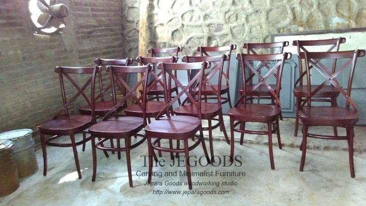 Another model and color of Crossback chair. Wholesale and supplier of teak cross back chair made in Jepara, Indonesia.