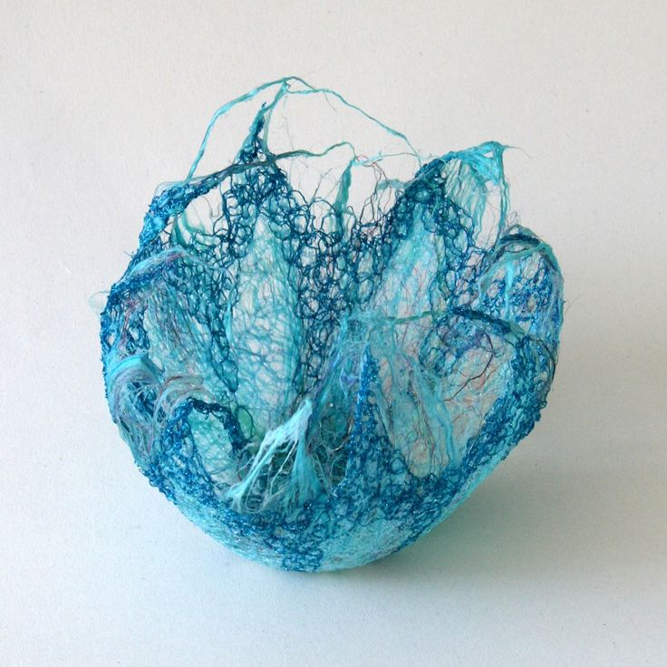 Untitled H: 10cm £35    Silk fibres, mixed fabrics and threads, machine stitch    Copyright Jo Hyam 2005