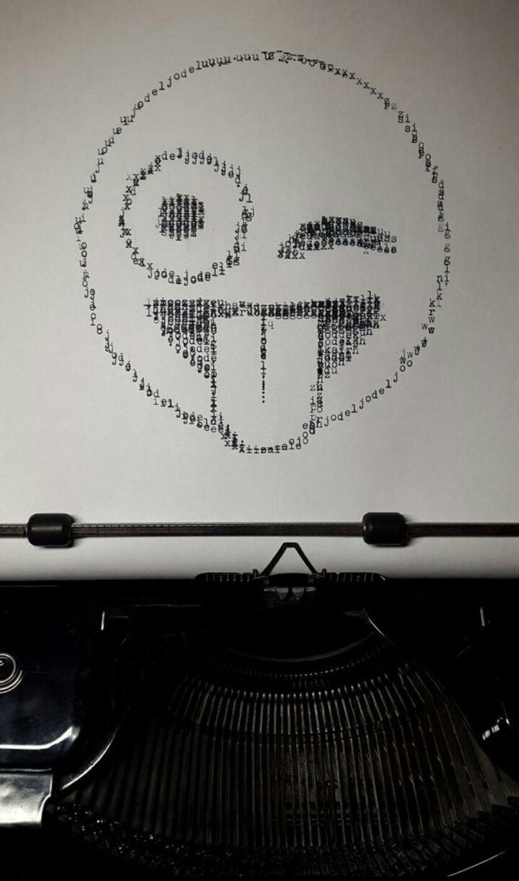 Emoji Typewriter A4 Psychedelic Illustration Fantasy Artist Digital Art Fantasy