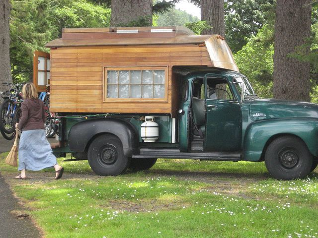 Homemade Truck Camper | homemade truck camper from the 60's in amazing shape | Flickr - Photo ...