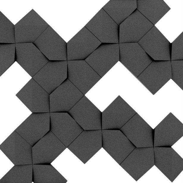 Fluffo, Fabryka Miękkich Ścian. Miękkie panele ścienne 3D, wzór LINK, opcje ułożenia.