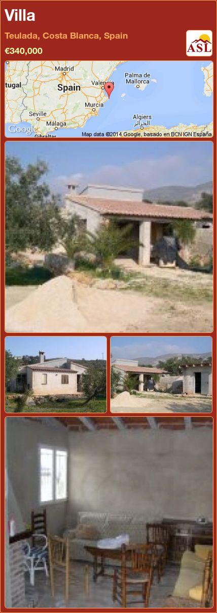 Villa in Teulada, Costa Blanca, Spain ►€340,000 #PropertyForSaleInSpain