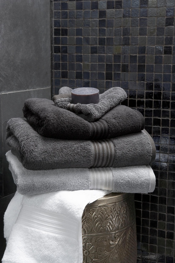 Christy Supreme Towel Collection - love the dark greys and this brand is ah-maz-ing!  Definitely saving up for a set