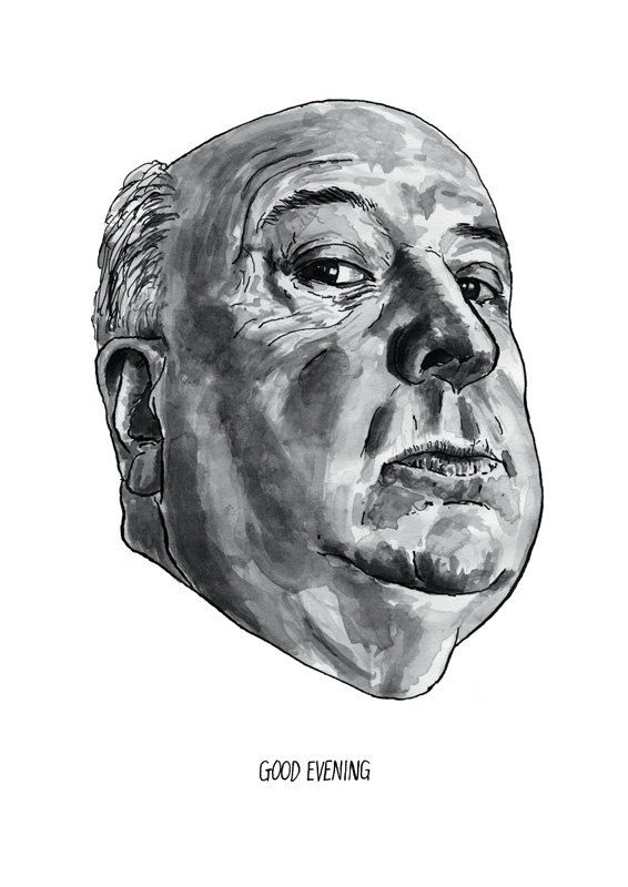 Alfred Hitchcock  Famous Movie Director Poster by StandardDesigns, £12.50