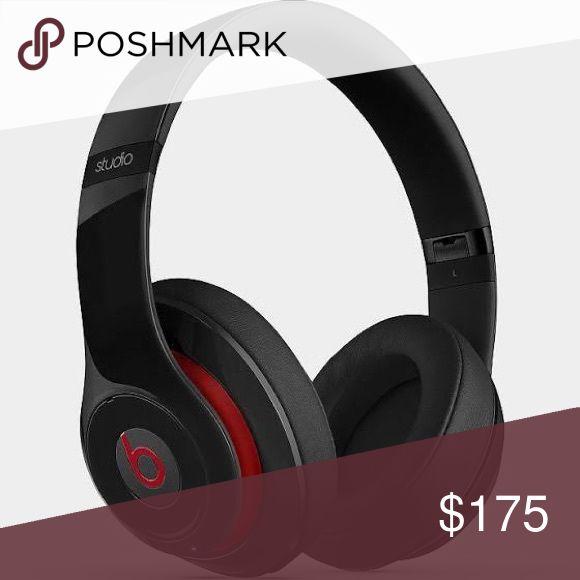 BEATS STUDIO HEADPHONES red&black Beats By Dre studio headphones BEATS Other