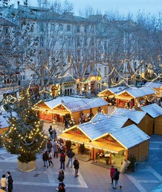 Christmas market in Provence, France
