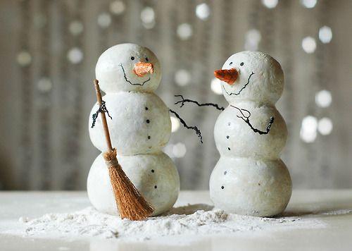 Paper Mache Snowmans By Lazar G.