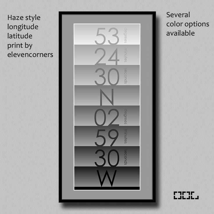 Personalized longitude latitude print | custom travel print | housewarming gift | new home gift | GPS coordinates print | minimalist poster by elevencorners on Etsy #elevencorners