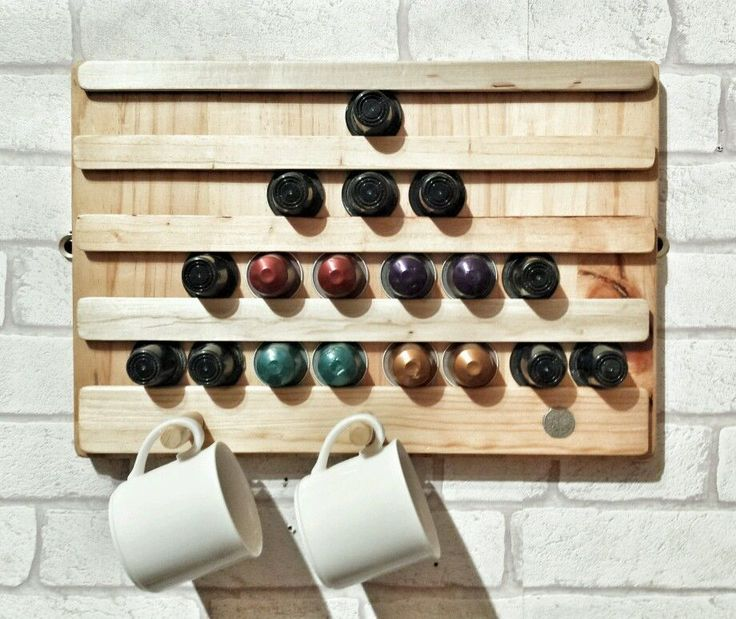 Reclaimed Wood Nespresso Pod Holder Rack In Home Furniture Diy Ebay