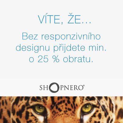 E-shopáři zbystřete! Mobilní zařízení mají čím dál větší podíl na e-commerce. Přes mobily se nakupuje čím dál častěji a přes tablety lidé nakupují stejně tak jako přes počítač. Responzivní webdesign byste proto měli brát jako samozřejmost. Obraťte se na nás, něco spolu vymyslíme. :-) https://www.shopnero.cz