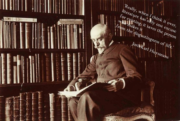 The language of Huysmans literary works is idiosyncratic and incomparable, but in order to taste genuine flavor of his words, you should know French.  #Huysmans #literature