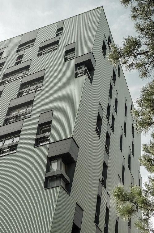 Residential building complex at the Gasometer Wien, Vienna Austria