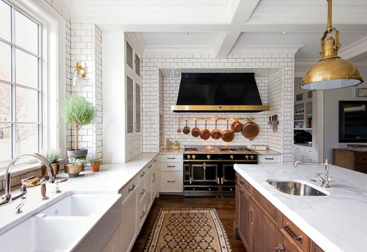 KitchenLabDesign - desire to inspire - desiretoinspire.net - subway tile + brass
