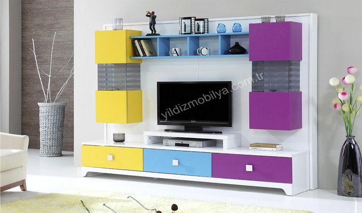 Efes Tv Ünitesi Gökkuşağının tüm renkleri #mobilya #modern #tv #yildizmobilya #home #salon #ev #dekorasyon http://www.yildizmobilya.com.tr/