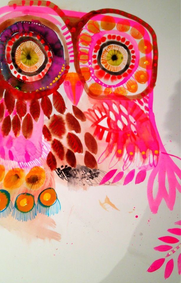 Gorgeous Owl by Jessie Breakwell - it could be a great inspiration for a #blogproject with the #SOSAfrica children